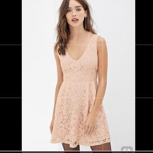 Forever 21 NWOT Pink Lace Dress